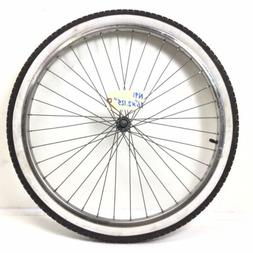 """Complete 26"""" Front Bicycle Chrome Wheel w/ 2.125"""" Tire Cruis"""