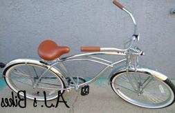 "Micargi Cougar GTS 26"" Chrome Beach Cruiser Bike"