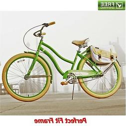 "Huffy Cruiser Bike 26"" Green Women's Comfort City Beach Co"
