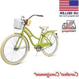 """Huffy Cruiser Bike Women's 26"""" Green Beach City Comfort Bicy"""