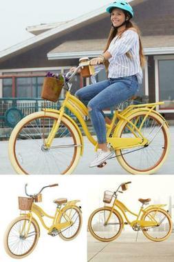 """Huffy Cruiser Bike Women's 26"""" Yellow Beach City Commuter Bi"""