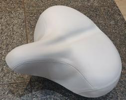 Custom Beach Cruiser Comfortable Bicycle Seat- XL WHITE
