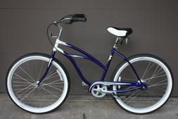 Electra Deluxe 7 Womens beach cruiser comfort bike, 7 Speed