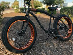 Fat Tire Beach Cruiser Bike 🌴 Flat Black w Copper - 7 Spe