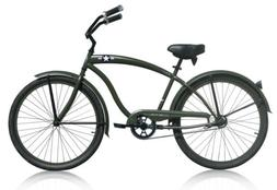 "Micargi THE GENERAL 26"" Beach Cruiser Bicycle Bike, Army Gre"