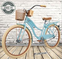 "Girls Cruiser Bike 26"" Padded Seat Women Bicycle Comfy Fra"