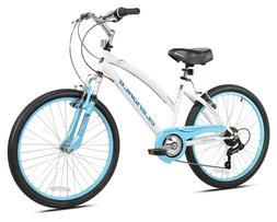 "New 24"" Kent Glendale Girls' Woman Cruiser Bike 7 Speed Stee"