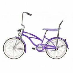 "Micargi HERO-F-PP Ladies 20"" Beach Cruiser Banana Seat Bicyc"