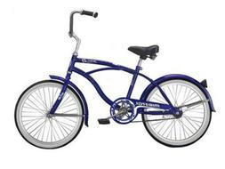 "Micargi JETTA-M-BL Men's 20"" Beach Cruiser Bicycle Bike, Blu"