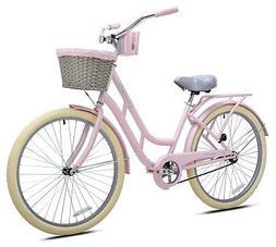"""KENT 26"""" Ladies BCA Charleston Beach Cruiser Bike Pink NEW"""