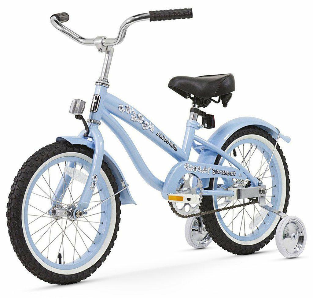 16 girl s beach cruiser bike blue