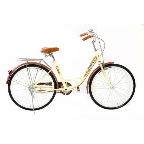 26in Beach Cruiser Bike Comfortable Cycling