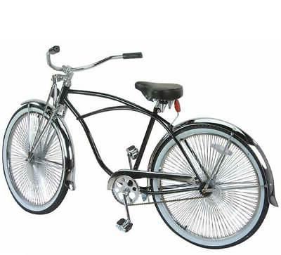 26 beach cruiser bike bicycle black frame