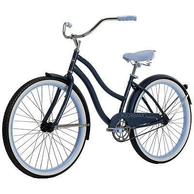 26 cranbrook womens beach cruiser bike blue