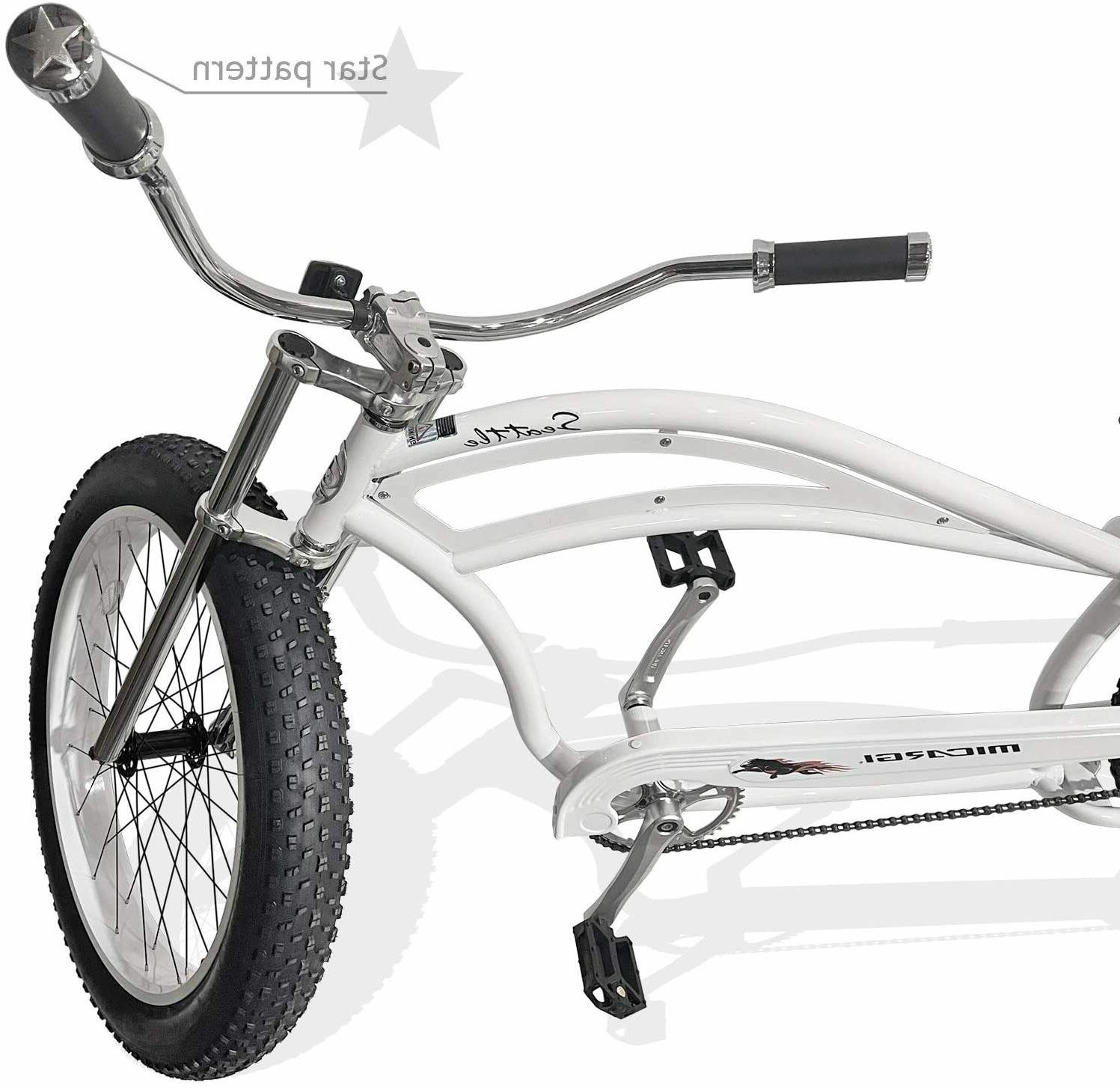 MICARGI Tires Stretch Beach Cruiser Bike Seattle Matte White NEW