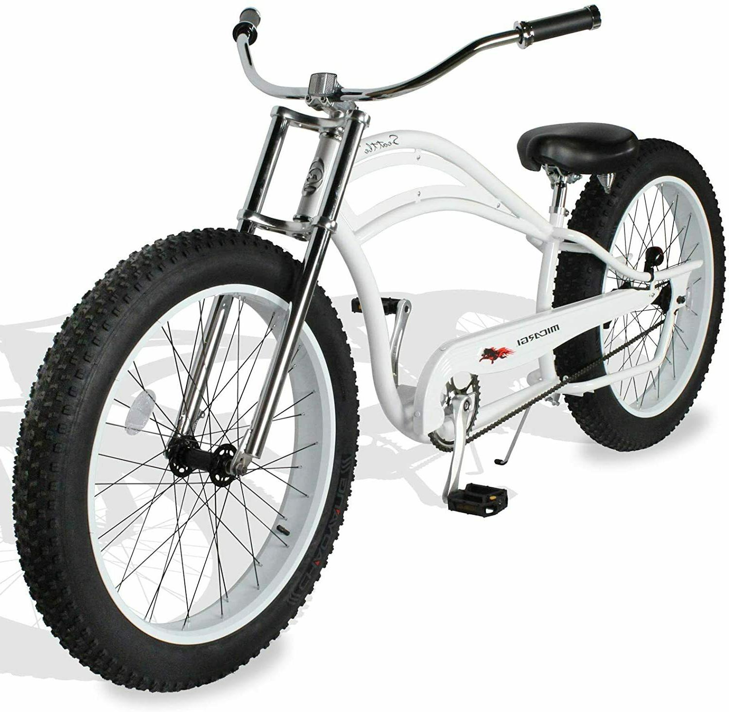 26 fat tires stretch beach cruiser bicycle