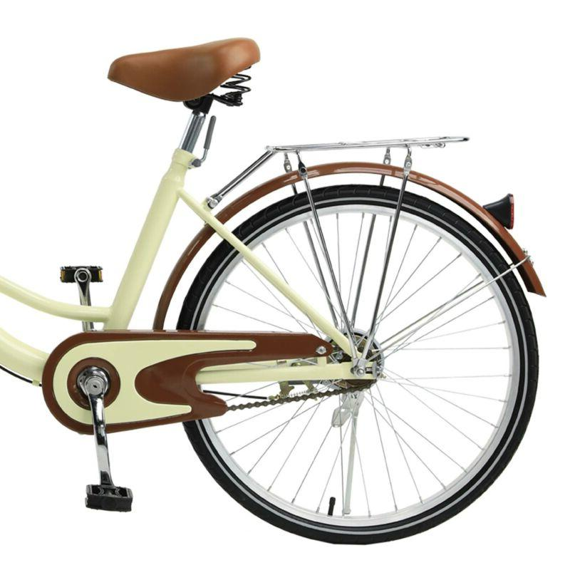 26 Inch Bike Bicycle Women with Basket Rack