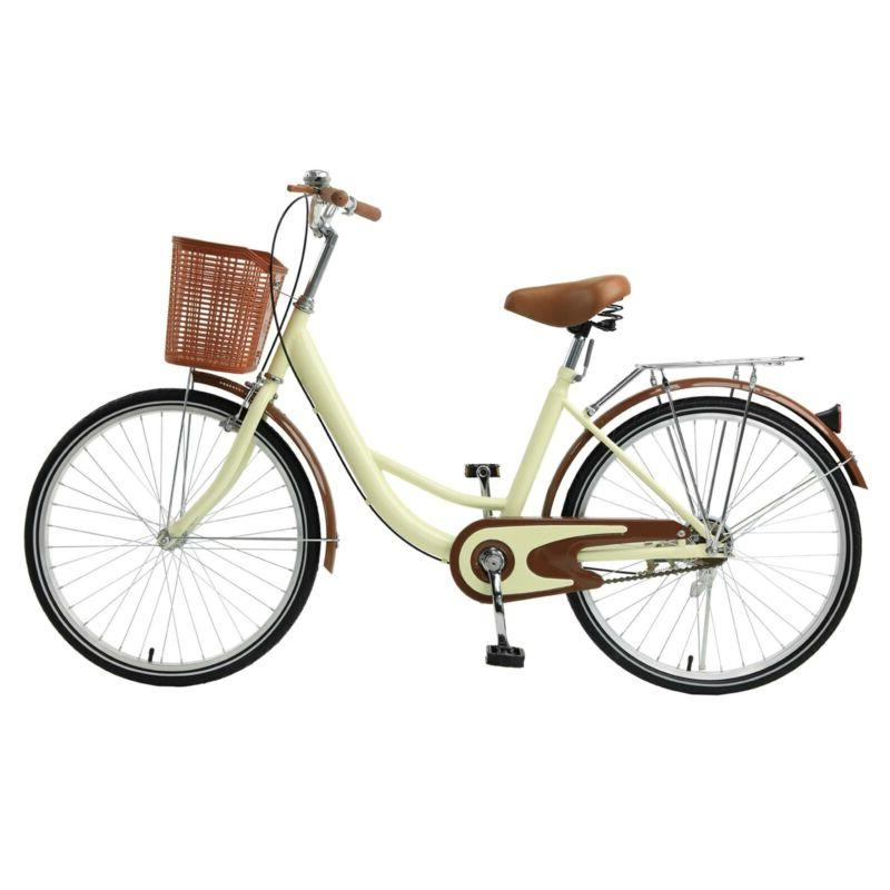 26 Beach Cruiser Bike Bicycle for with Basket and Rear Rack
