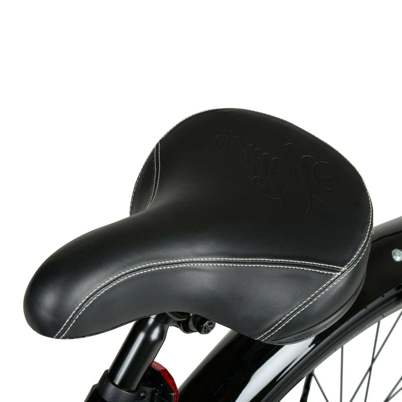 """26"""" Mens Bike Bicycle Comfort Seat Outdoor Cycling Black"""