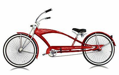 "26"" Stretch Beach Cruiser Micargi Spokes Bicycle Matte"
