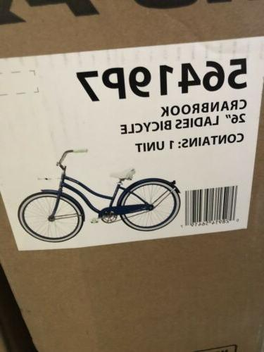 "HUFFY 26"" BEACH CRUISER BLUE BRAND IN"