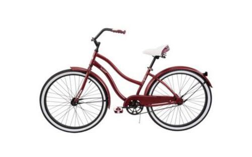 """HUFFY 26"""" WOMEN'S CRUISER BIKE Dark Red NIB Bicycle"""