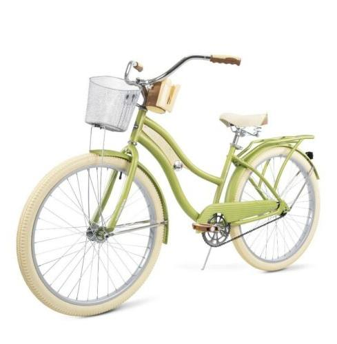 "Huffy 26"" Women's Lusso Cruiser with Perfect Fit Green"