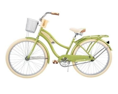"Huffy 26"" Lusso Beach Bike with Fit Green"