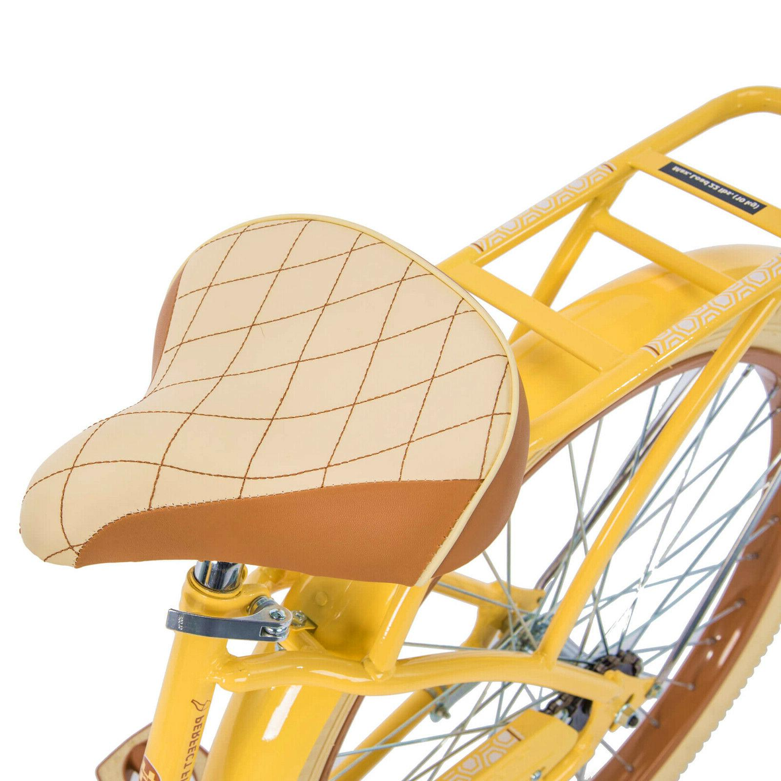 "Huffy 26"" Lusso Cruiser with Yellow"