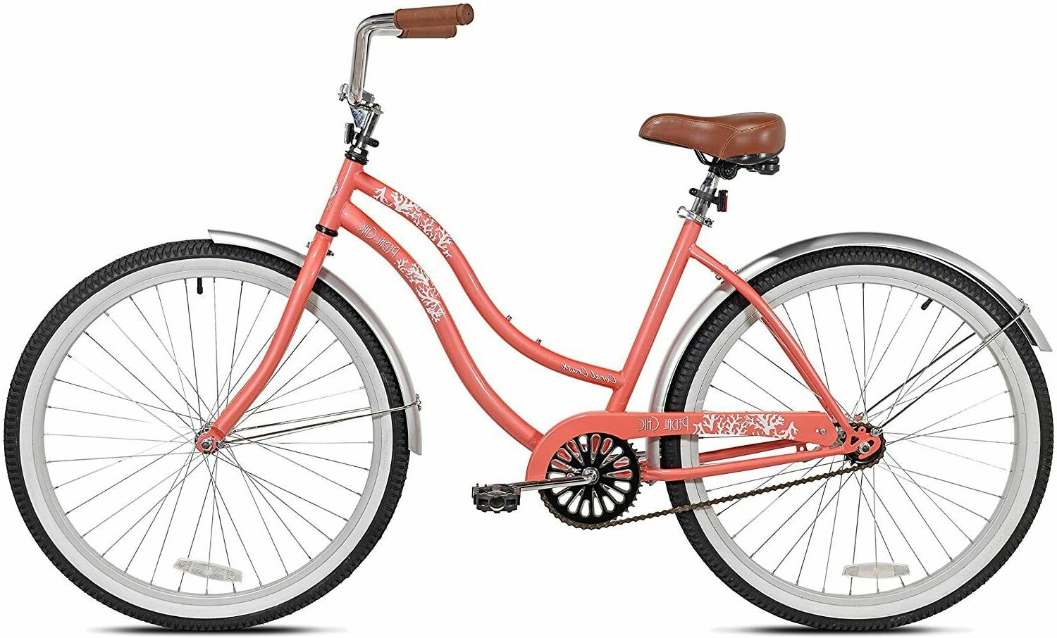 Pedal Chic Beach Cruiser Bike- Coral