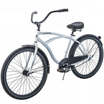 CRUISER BICYCLE Commuter 26 Inch Men City Beach Bike White C