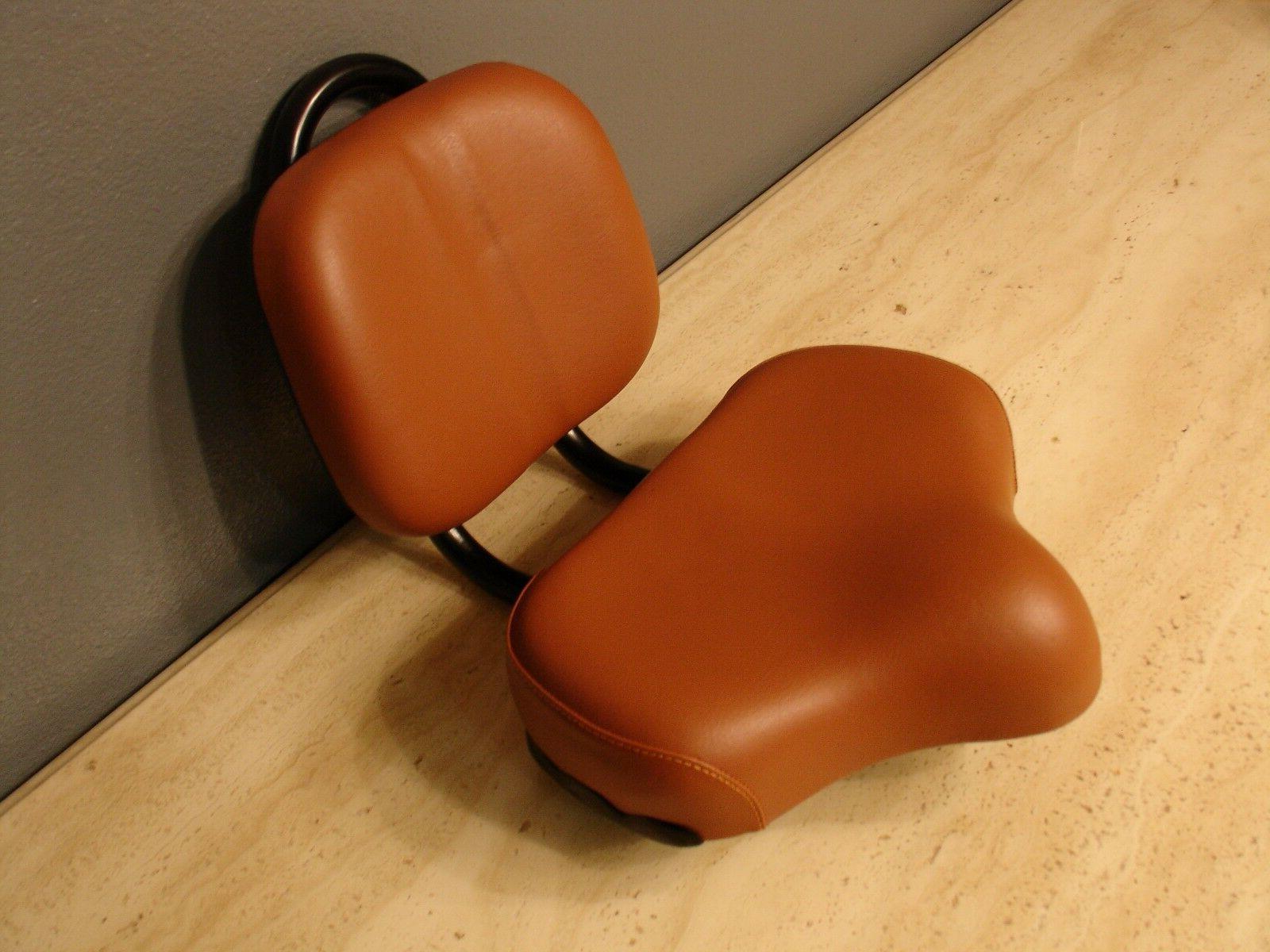 bicycle seat saddle brown large comfort adjustable