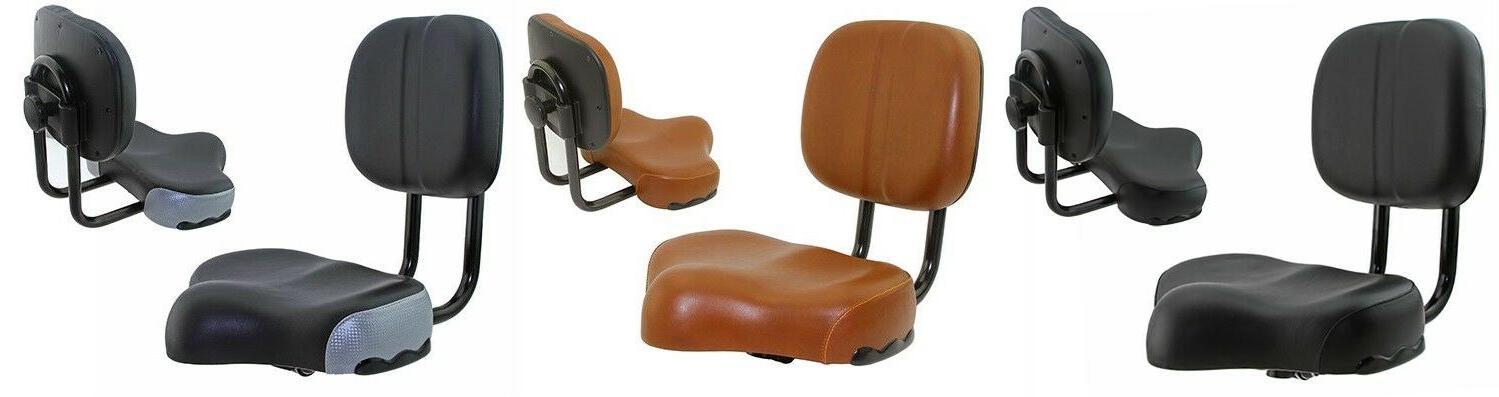 bicycle seat saddle large comfort adjustable back