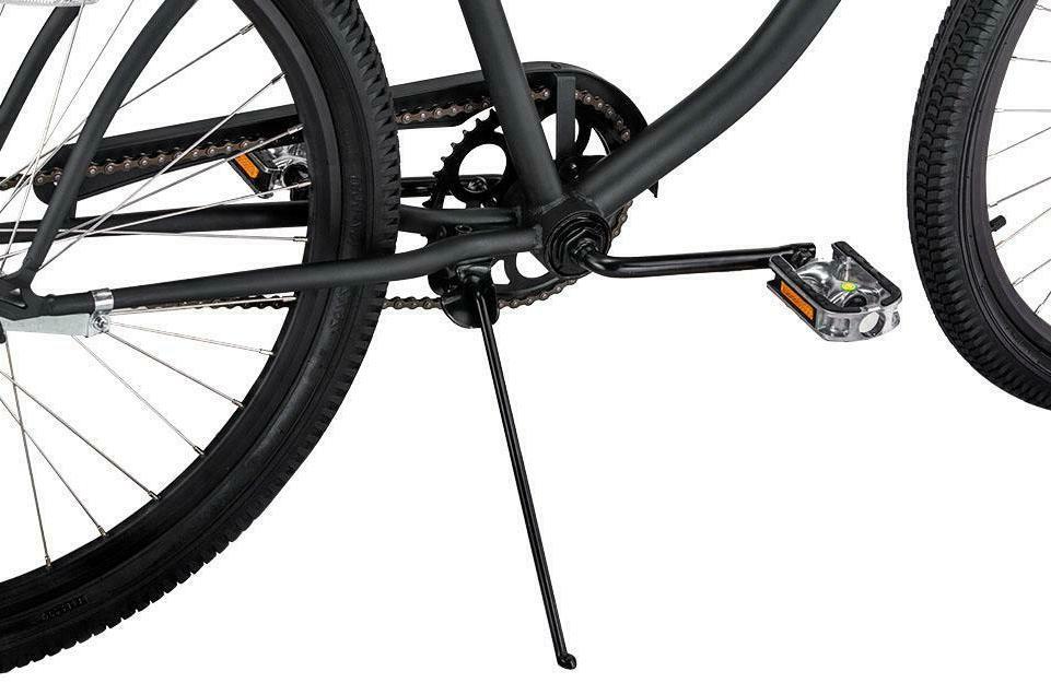 Coastal Beach Cruiser Bicycle Adult Hybrid New Black 26in tires