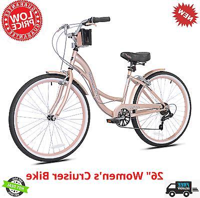 cruiser bike 26 women comfort beach bicycle