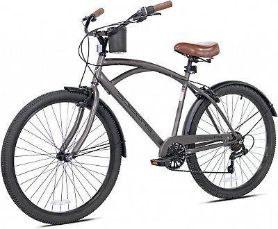 cruiser bike men 26 gray comfort beach