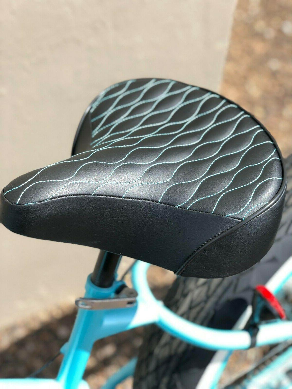 custom beach cruiser comfortable bicycle seat black