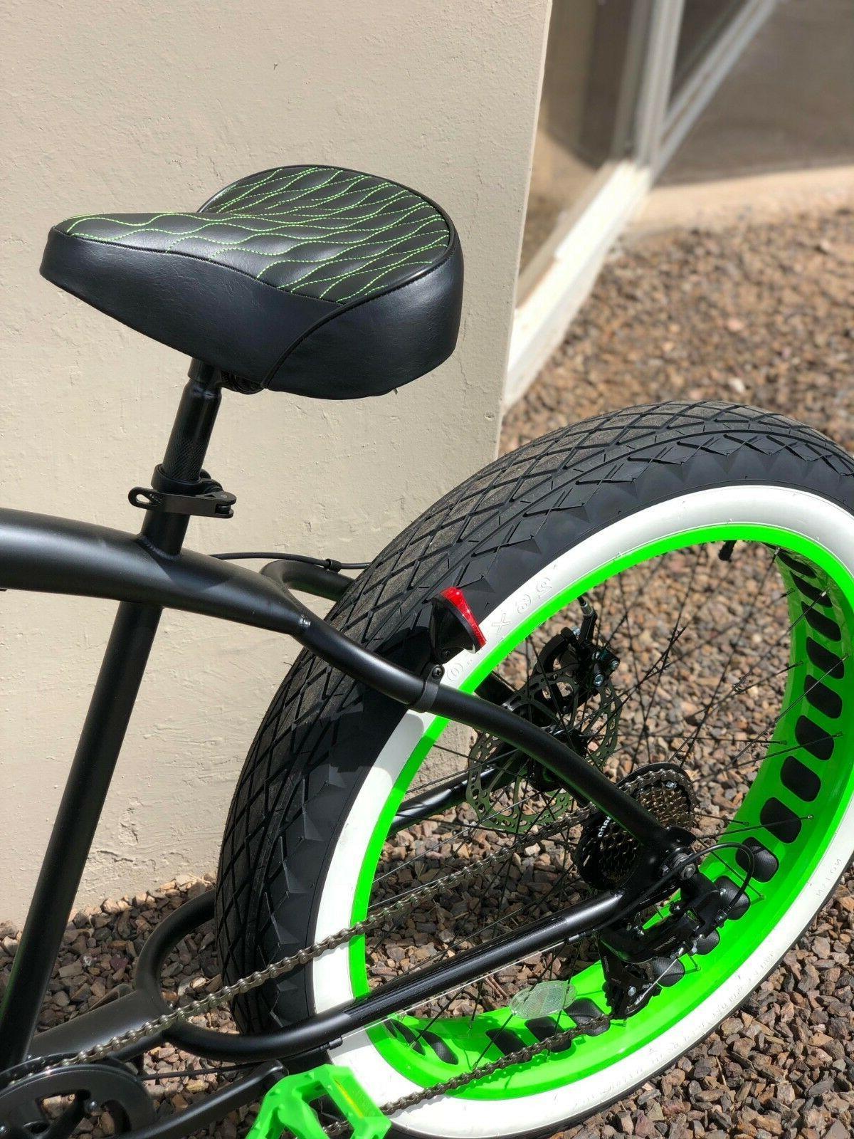 Custom Comfortable Bicycle Seat- GREEN