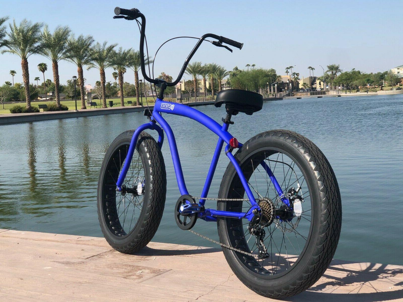 Fat Tire Beach Bike 🌴 w Black SPEED-CUTOUT