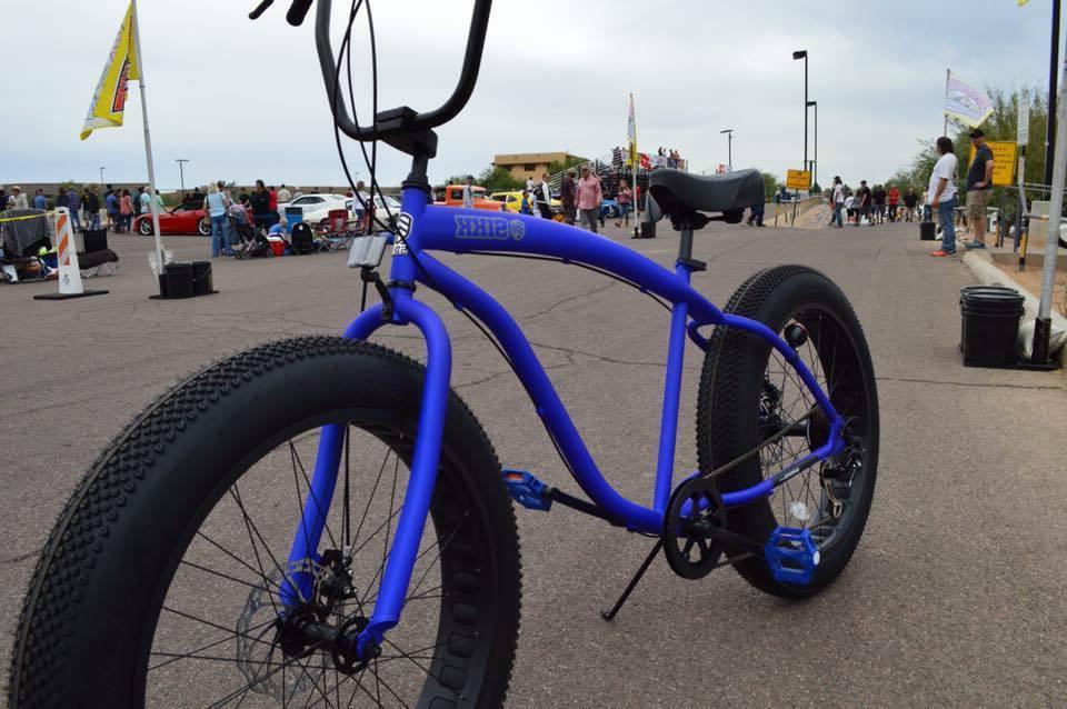 Fat Bike 🌴 Flat w - 7 SPEED-CUTOUT RIMS