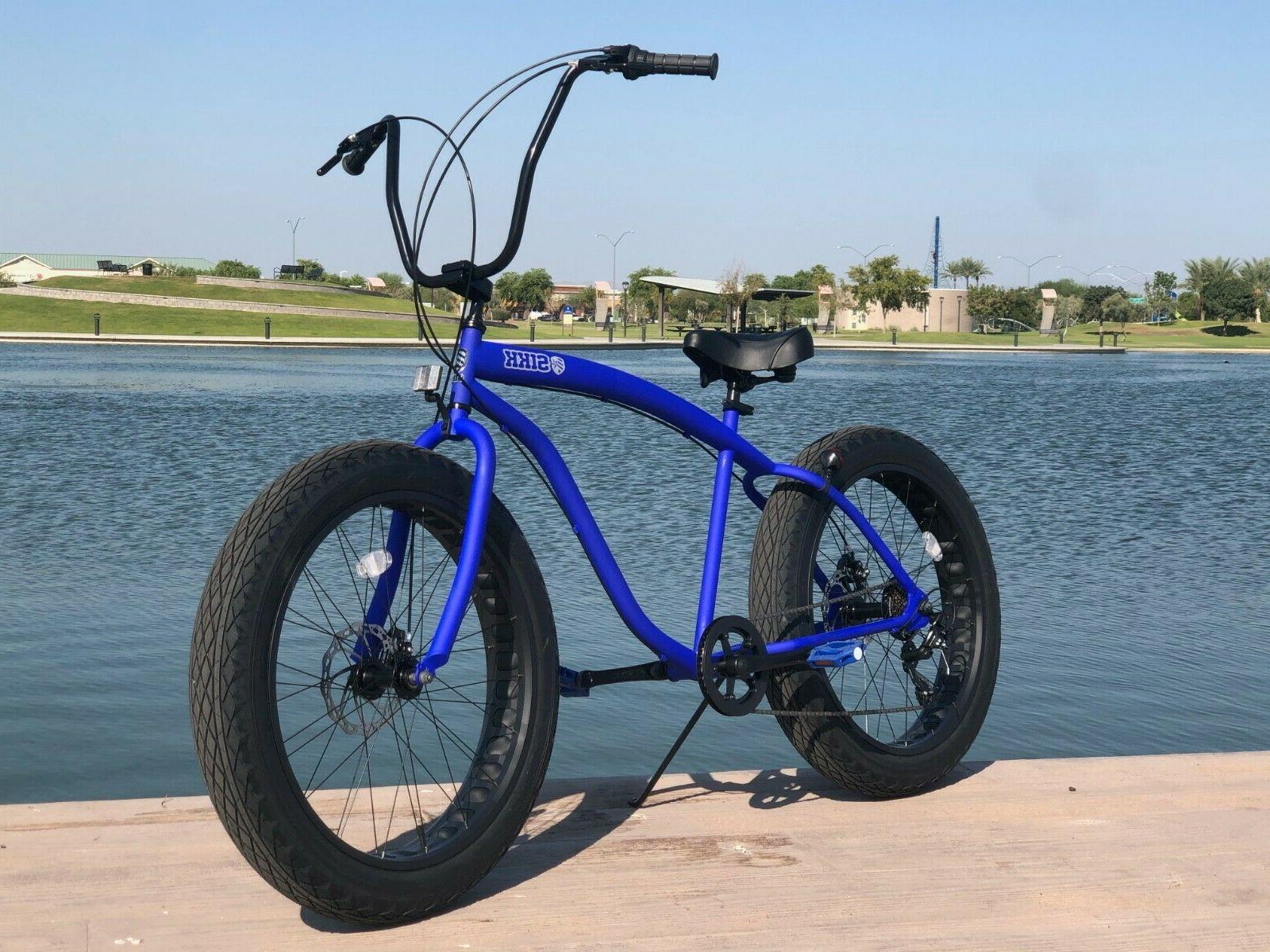 Fat Cruiser Bike 🌴 Flat w SPEED-CUTOUT