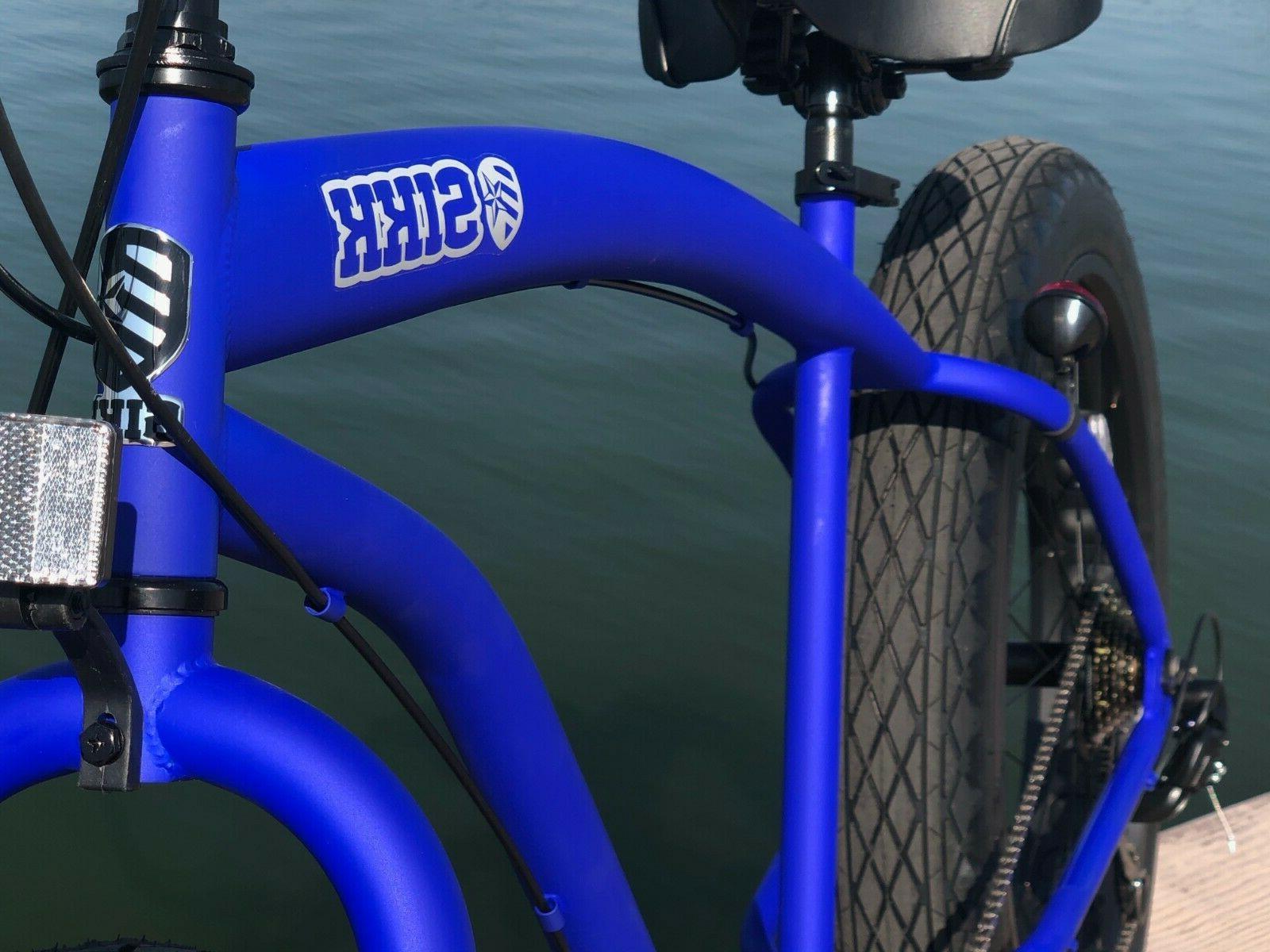 Fat Bike Flat w Black 7 SPEED-CUTOUT
