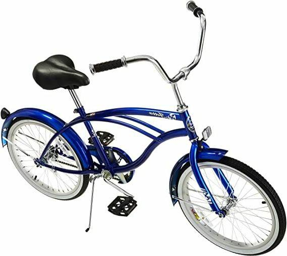 "Micargi JETTA-M-BL Men's 20"" Beach Cruiser Bicycle Bike, Blu"