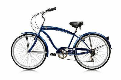 Micargi MBI 7 speed Men cruiser bicycle bike Black