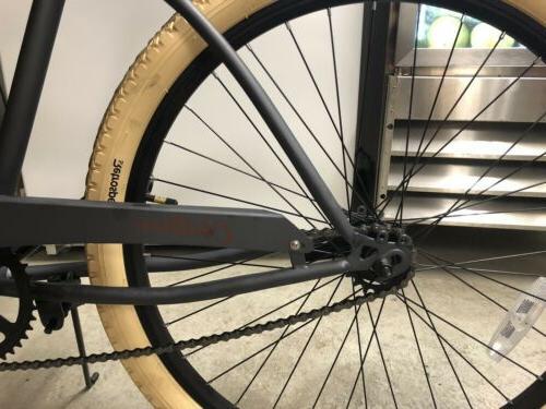 Retrospec Men's beach cruiser bike, bike, graphite orange, brand new