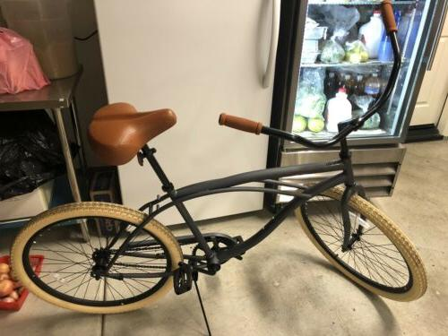 mens beach cruiser bike chatham bike graphite