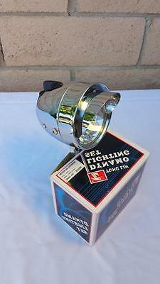 new chrome bicycle bullet head light w