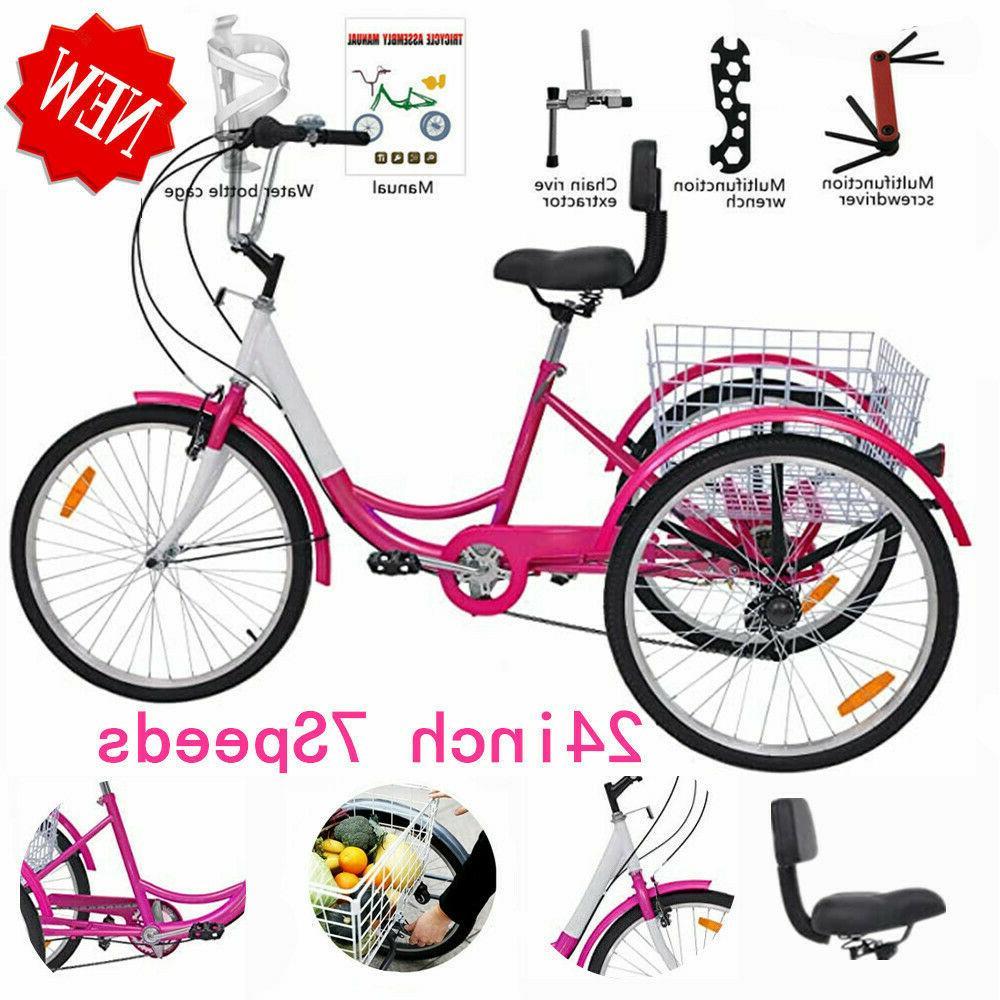 Pro Adult Tricycle Men&Women Beach Cruiser Trike Pedal 3Whee