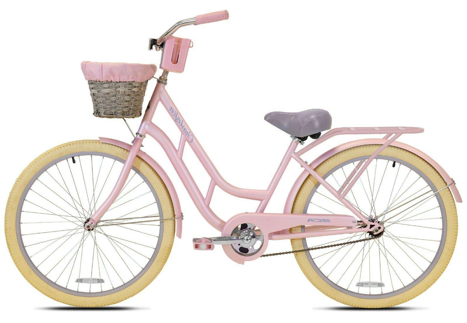 """SHIPS 26"""" Womens Comfort Cruiser Bike Pink NEW"""