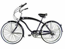 """Micargi MBI 26"""" Rover 7 speed Men beach cruiser bicycle bike"""